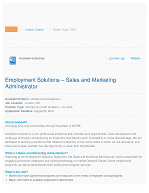 fillable online esclm employment solutions sales and marketing