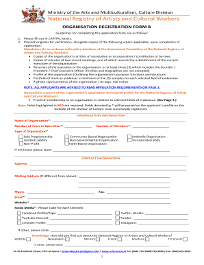Artist Registry Application Form B - Ministry of Community ... - culture gov
