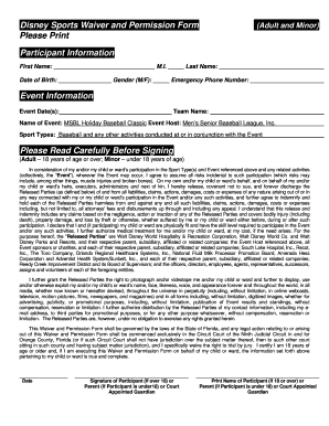 Waiver Form Template For Sports Fillable Printable Samples For - Waiver form template for sports