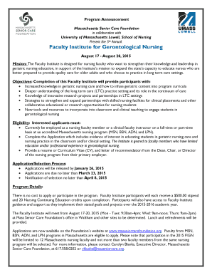 Faculty Institute For Gerontological Nursing   Massachusetts Senior .