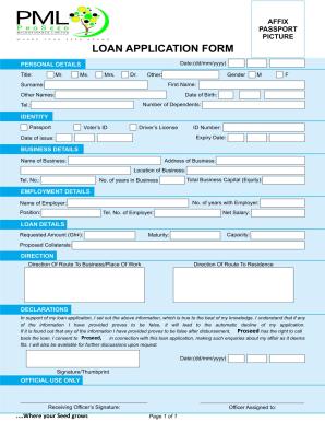 fnb online loan application form