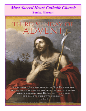 THIRD SUNDAY OF ADVENT DECEMBER 14 2014 Most Sacred Heart - sacredhearteureka