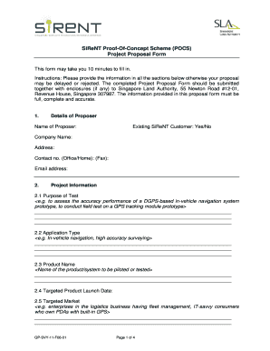 8 Printable Project Proposal Sample Document Forms And Templates