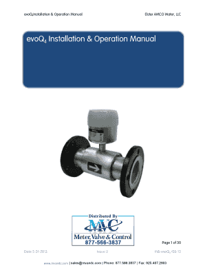 EvoQ4 Installation & Operation Manual - Meter Valve & Control