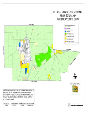 Miami Township Ohio Map.Fillable Online Co Greene Oh Official Zoning District Map Miami