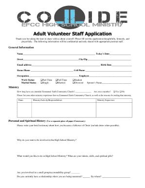 308966630 Volunteer Application Form Printable For Kairos on