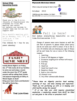20 Printable Preschool Newsletters For Parents Forms And Templates Fillable Samples In Pdf Word To Download Pdffiller