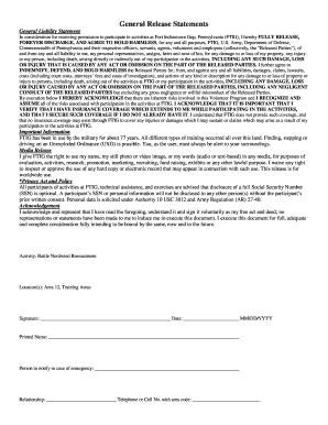 General Release Statements There Waivers  General Release Template