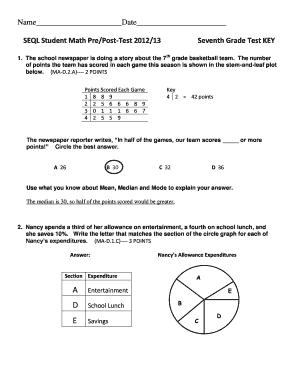 7th grade math pretest online dating