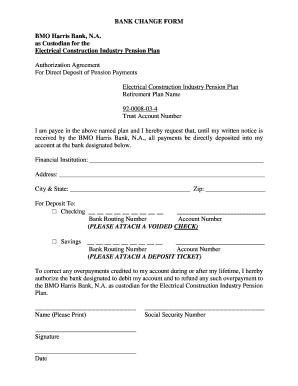 direct deposit form bmo  Eci Plans - Fill Online, Printable, Fillable, Blank | PDFfiller