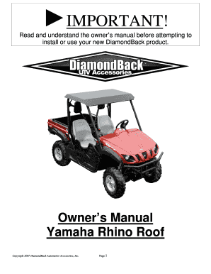 Rhino Roof Owners Manual 909 - Discount Rampscom