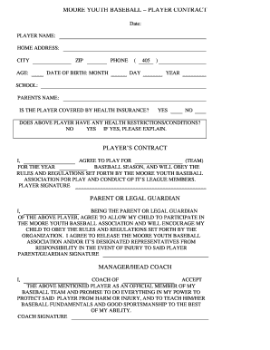 Youth baseball coach contract [sample] spiders elite.