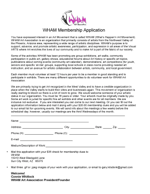 BWHAMb Membership Application - wham-art