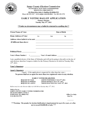 sarpy county absentee ballot fill online  printable