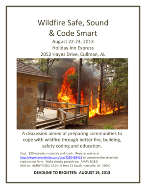 Wildfire Safe, Sound & Code Smart - Alabama Forestry Commission - forestry alabama