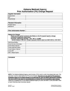 Fillable Online medicaid alabama Form 471 - Medicaid.alabama.gov ...