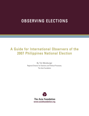 Philippines Elections Manual PBES-report