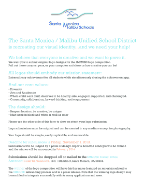 Attached is the creative brief and submission form - Santa Monica ...