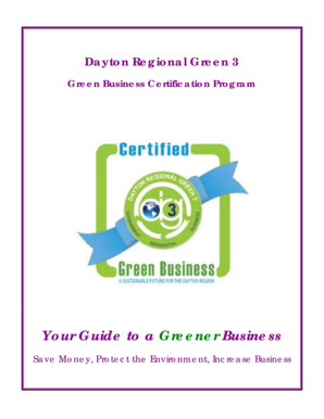 Your Guide to a Greener Business - Montgomery County, Ohio
