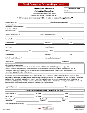 Hazardous Materials Collection/Recycling - City of Renton