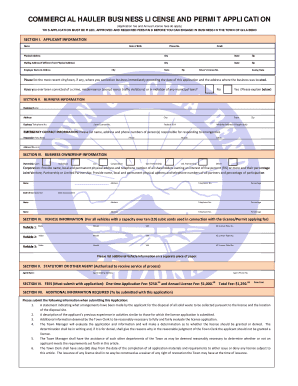 Commercial Refuse License Application - the Town of Gila Bend! - gilabendaz