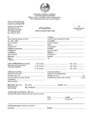 Fillable Online Lao Suisse Laos Visa Application Form Lao Suisse Fax Email Print Pdffiller