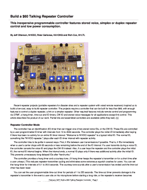 talking repeater controller form