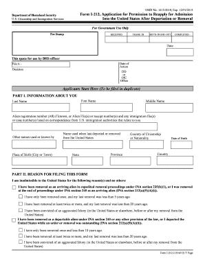 I 212 Form - Fill Online, Printable, Fillable, Blank | PDFfiller