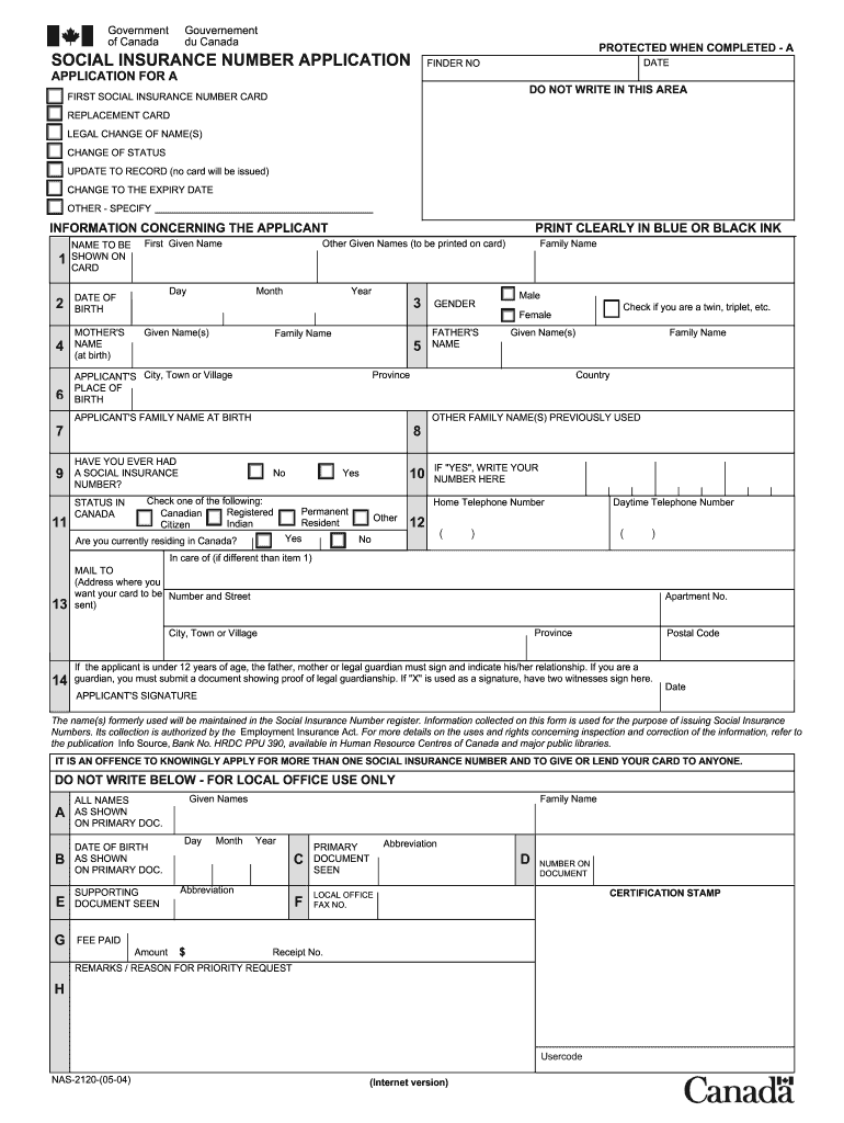 2004 Form Canada NAS-2120 Fill Online, Printable, Fillable ...
