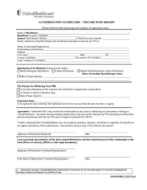 Uhcmilitarywest - Fill Online, Printable, Fillable, Blank | PDFfiller