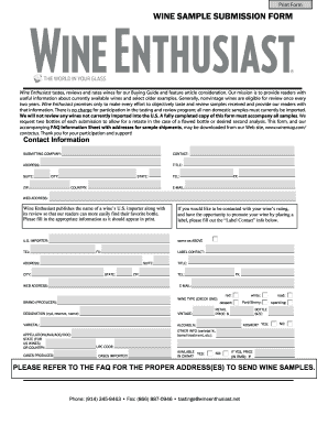 wine submission form