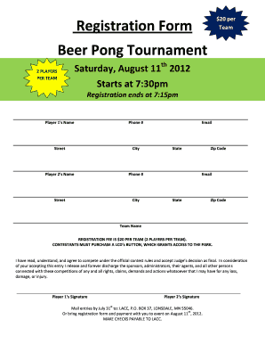 beer pong rules pdf form