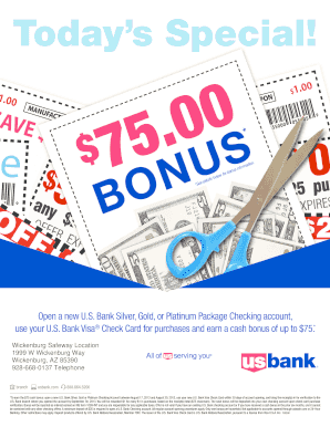 us bank checking bonus - Edit & Fill Out, Download Printable Online