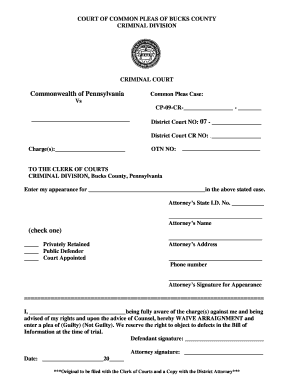 Bill Of Sale Form Oklahoma Entry Of Appearance And Waiver Form ...