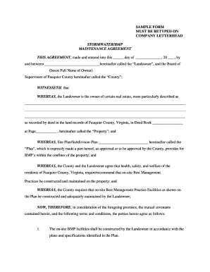 SAMPLE FORM - Fauquier County - fauquiercounty
