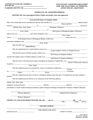 447 A Affidavit of Adopted Person.pdf - Department of Children ... - dcfs louisiana