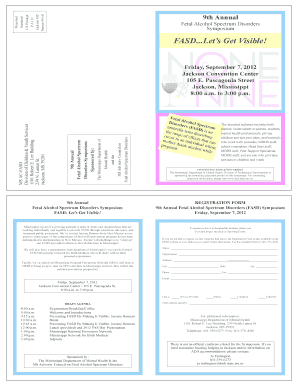 Fillable Online Dmh State Ms Fasd Conference Brochure Mississippi