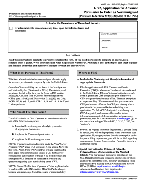 Fillable Online Form I-192 Instructions.pdf Fax Email Print ...