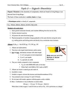 Chemistry Form Five Notes - Fill Online, Printable, Fillable, Blank