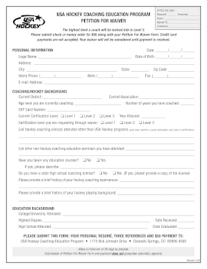 usa hockey coaching certification waiver form