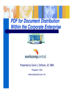 PDF for Document Distribution Within the Corporate ... - Planet PDF