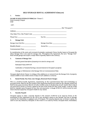 Oregon Rental Agreement - Fill Online, Printable, Fillable, Blank ...