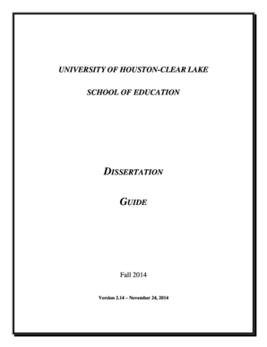 uhcl dissertation guide
