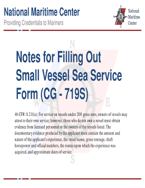 Fillable Online uscg Notes for Filling Out Small Vessel Sea ...
