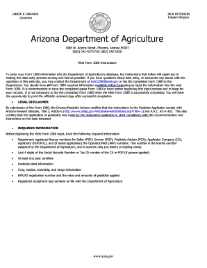 Fillable Online form1080 azda Arizona Department of Agriculture ...