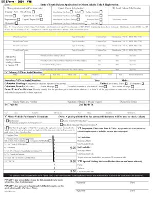 Sd Form 0864 Fill Online Printable Fillable Blank Pdffiller
