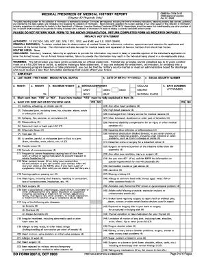 Fillable Online dmna ny DD Form 2807-2, Medical Prescreen of