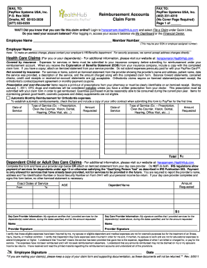 fax cover sheet for horace mann healthhub form