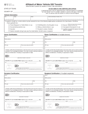 How To Fill Out A Doner Vehicle Notarized - Fill Online, Printable ...
