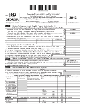 2013 Georgia Form 4562 - Fill Online, Printable, Fillable, Blank ...